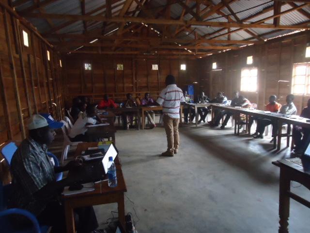 des journalistes de Lubero en pleine formation © Photo CENED RDC